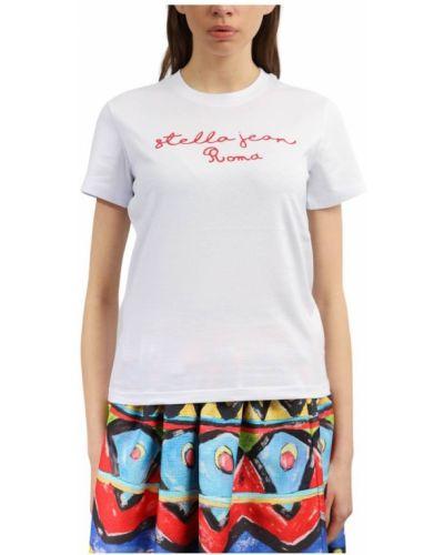 Biały t-shirt Stella Jean