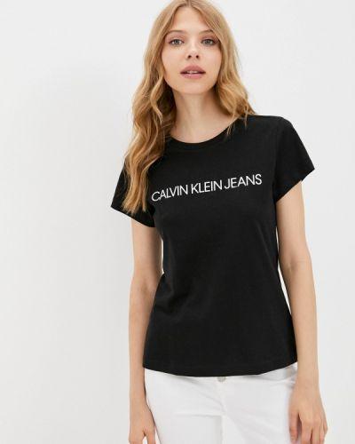 Белая разноцветная футболка Calvin Klein Jeans