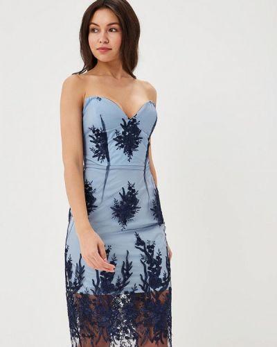 Платье весеннее синее Mirasezar
