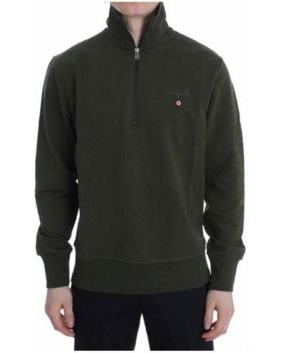 Bawełna bawełna zielony sweter Aeronautica Militare