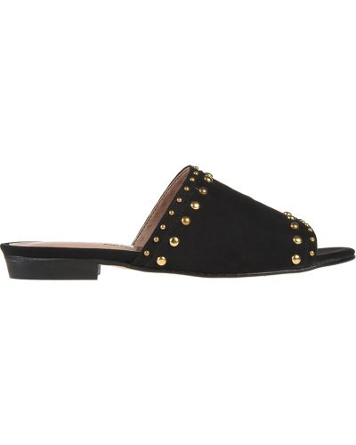 Шлепанцы на каблуке черные Nila & Nila