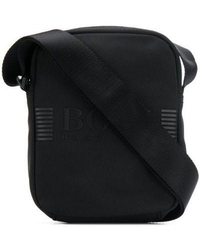 Сумка через плечо с принтом - черная Boss Hugo Boss