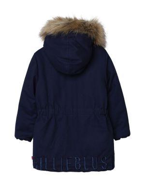 Куртка с капюшоном - синяя Billieblush