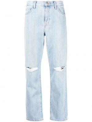 Прямые с завышенной талией синие джинсы классические J Brand