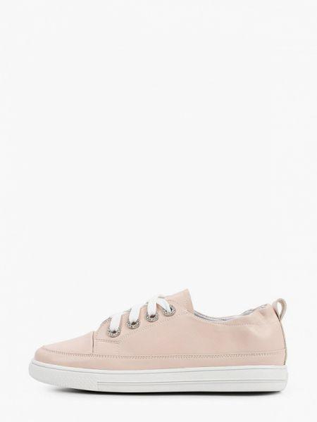 Розовые кроссовки из натуральной кожи Inario