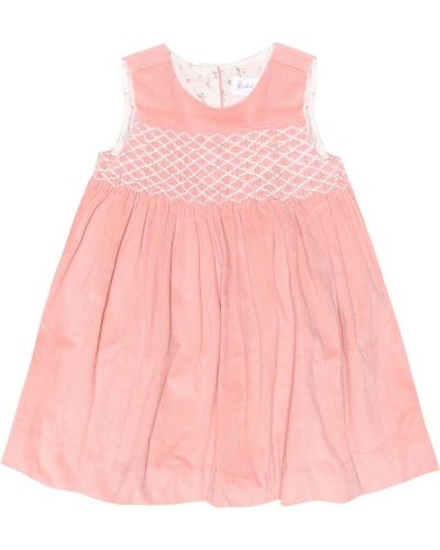 Różowa sukienka mini bawełniana Rachel Riley