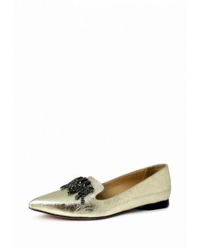 Кожаные туфли золотой Blizzarini