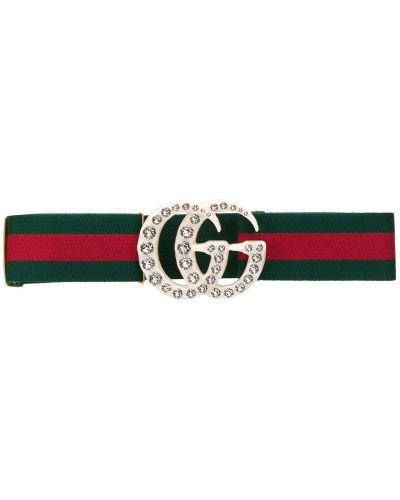Ремень с пряжкой зеленый Gucci