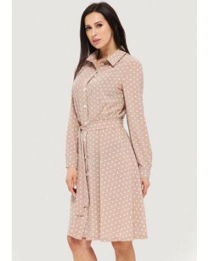 Платье платье-рубашка бежевое Danna