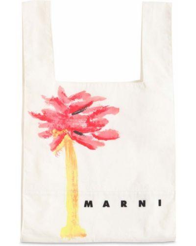 Biała torebka bawełniana Marni Junior