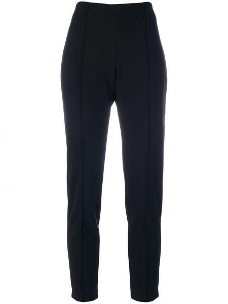 Черные прямые со стрелками брюки с воротником Le Tricot Perugia