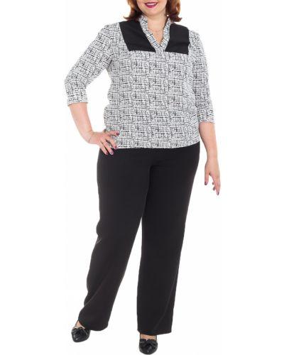 Блузка с кокеткой классическая Lacy_plus