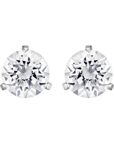 Серьги-гвоздики с кристаллами сваровски серебряный Swarovski