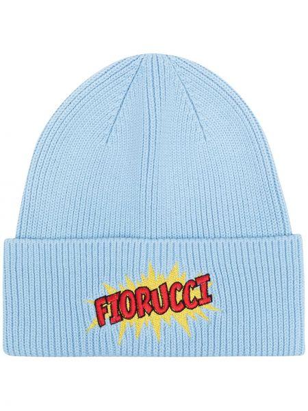 Niebieska czapka z haftem Fiorucci