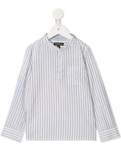 Biała koszula z długimi rękawami - biała Velveteen