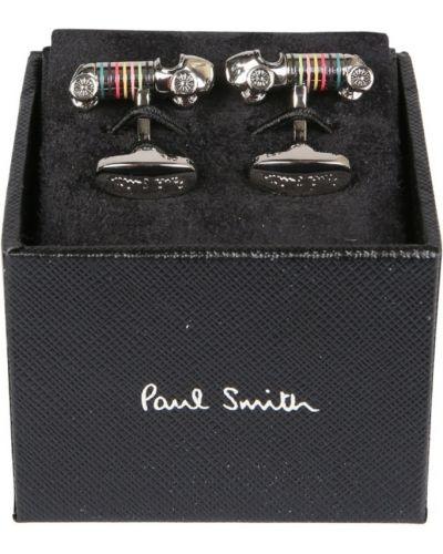 Spinki do mankietów srebrne - czarne Paul Smith