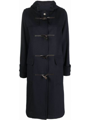 Синее шерстяное пальто Mackintosh