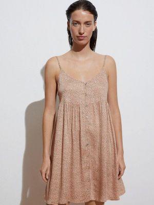 Розовое платье а-силуэта Oysho