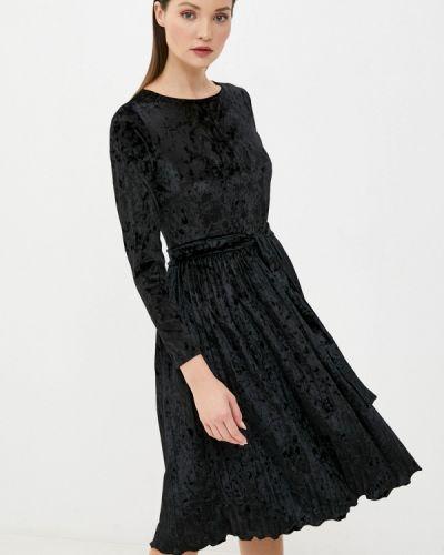 Прямое черное платье Pink Summer