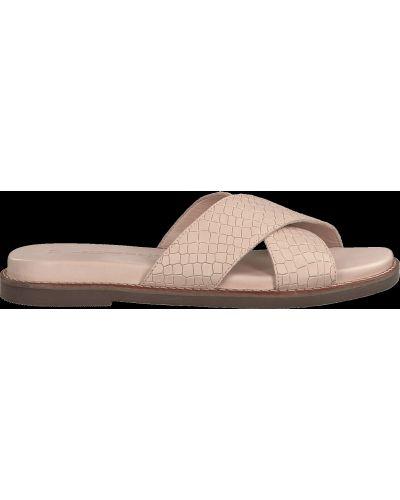 Шлепанцы на каблуке - розовые Tamaris