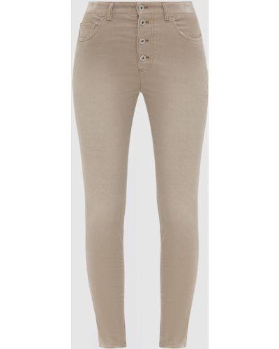 Бежевые джинсы вельветовые Miu Miu