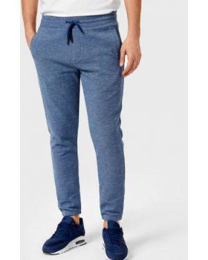 С кулиской синие брюки на резинке с карманами Ostin