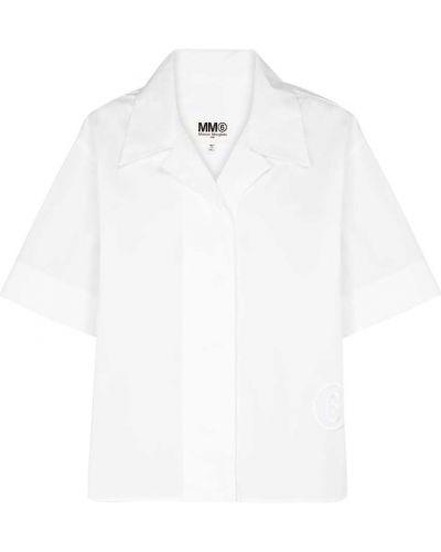 Ватная хлопковая белая рубашка Mm6 Maison Margiela
