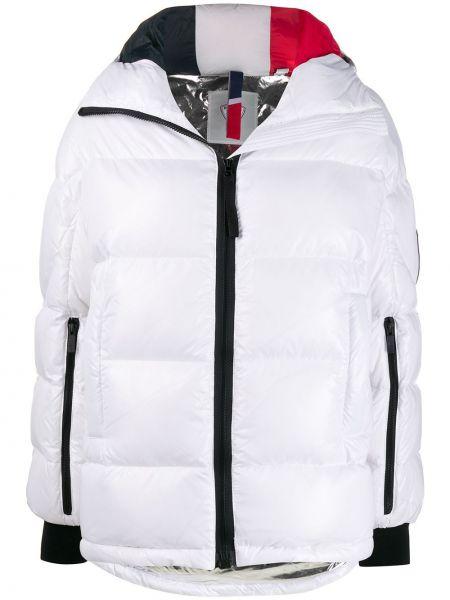 Теплая куртка с капюшоном на молнии мятная с перьями Rossignol