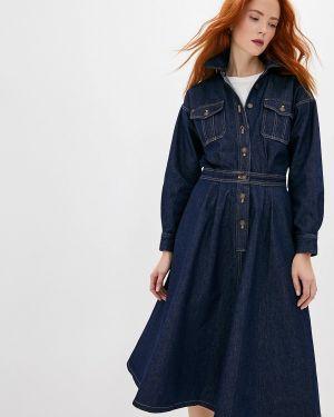 Джинсовое платье осеннее синее Polo Ralph Lauren