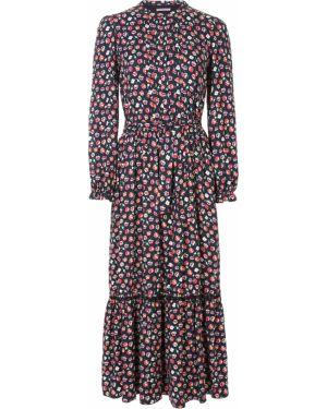 Платье макси на пуговицах с цветочным принтом Ermanno Scervino