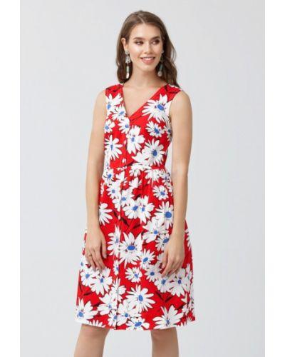 Платье мини весеннее красный Oks By Oksana Demchenko