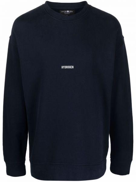 Niebieska bluza z nadrukiem z printem Hydrogen