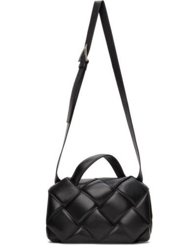Кожаный черный топ с подкладкой Bottega Veneta