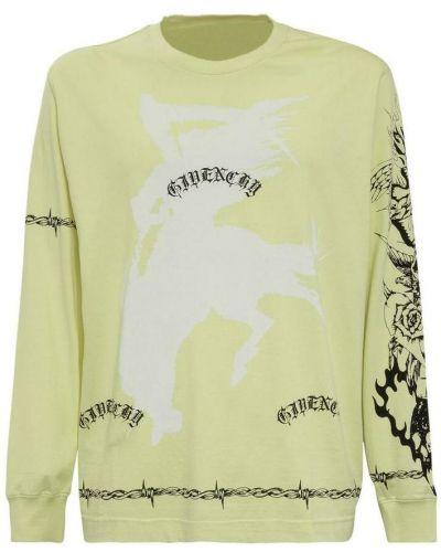 T-shirt bawełniana - żółta Givenchy