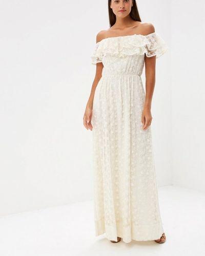 Бежевое платье прямое Lusio