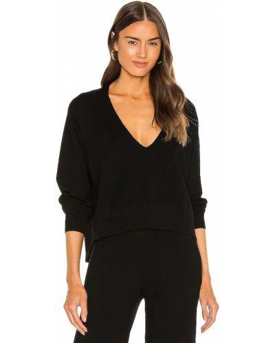 Prążkowany czarny pulower z wiskozy Bailey 44