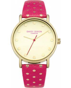Водонепроницаемые часы на кожаном ремешке кварцевые Daisy Dixon