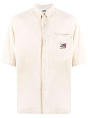 Хлопковая с рукавами белая классическая рубашка Gcds