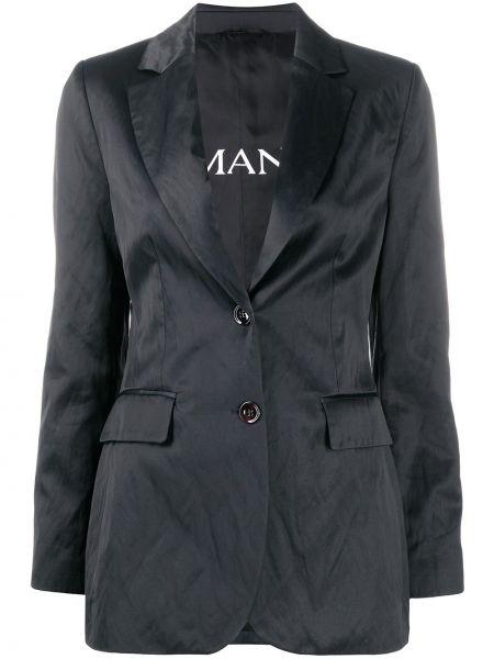 Однобортный черный приталенный пиджак Ermanno Ermanno
