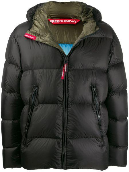 Czarna kurtka z kapturem z nylonu Freedomday
