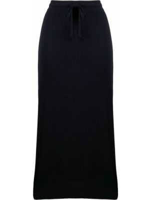 Шерстяная юбка миди - синяя Pringle Of Scotland