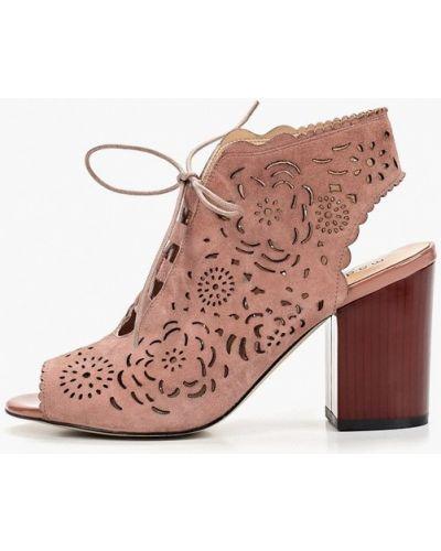 Босоножки на каблуке розовый Madella