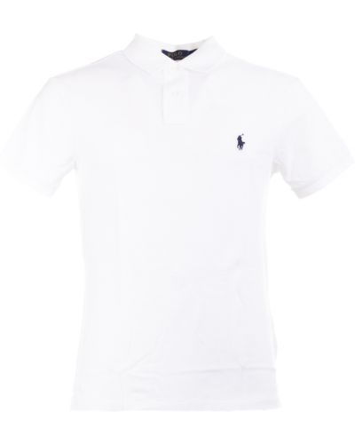 Biały t-shirt bawełniany Ralph Lauren