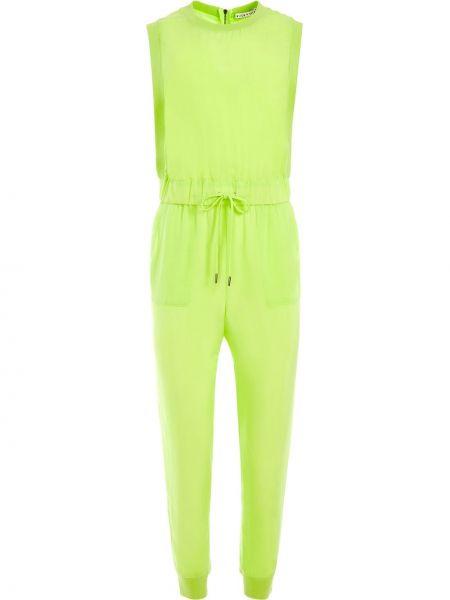 Укороченный комбинезон с карманами без рукавов из вискозы Alice+olivia