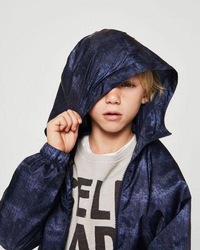 Куртка синий в клетку Mango Kids