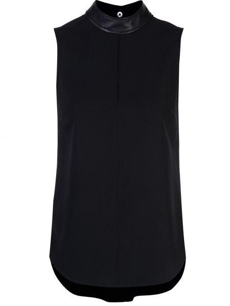 Блузка без рукавов с воротником-стойкой черная Alc