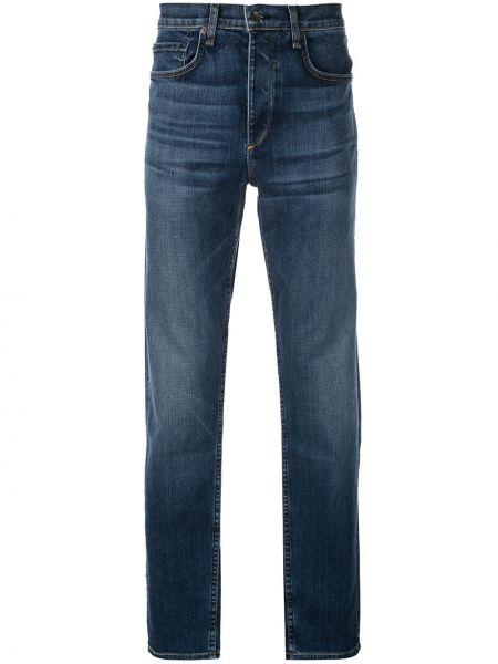 Mom jeans bawełniane - niebieskie Rag & Bone