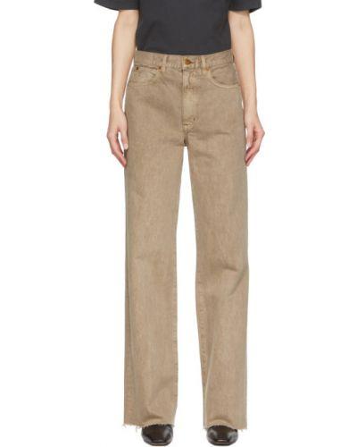 Синие широкие джинсы стрейч свободного кроя Slvrlake