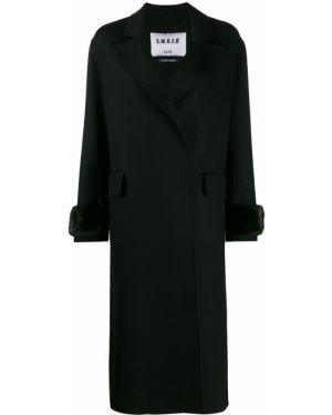 Шерстяное черное пальто классическое S.w.o.r.d 6.6.44