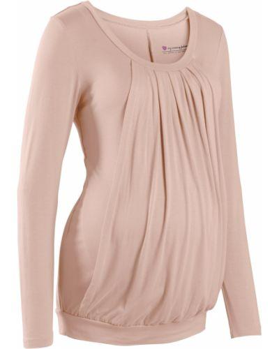 Блузка для беременных бежевый Bonprix